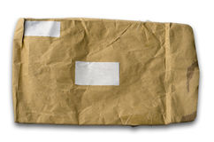 Old wrinkled brown paper envelope Royalty Free Stock Photo