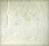 Old wrinkled dirty beige paper sheet Royalty Free Stock Photos