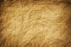 Old wrinkled kraft paper Royalty Free Stock Images