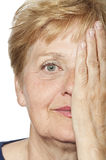 Old wrinkled woman face Royalty Free Stock Photo