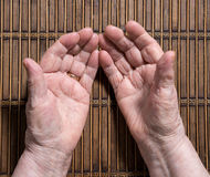 Old wrinkled woman's hands Royalty Free Stock Photography