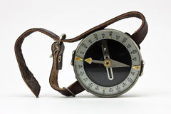 Old wrist compass... Stock Images