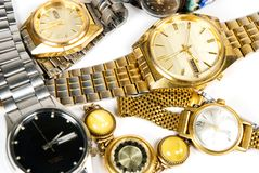 Old wrist watches Royalty Free Stock Image