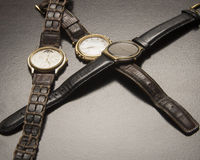 Old Wrist Watches Royalty Free Stock Images