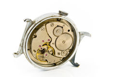 Old wristwatch mechanism Stock Photography