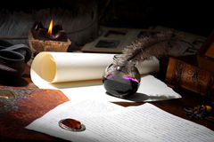 The old writer Stock Photo