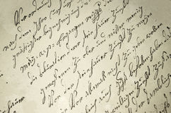 Old writing Stock Images