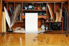 Old writing desk Royalty Free Stock Images