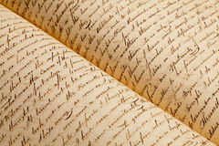 Old Writings Stock Photo