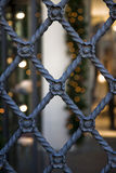 Old wrought iron gate with floral decorations Stock Image