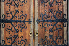 Old wrought-iron gates. stock photography
