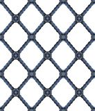 Old wrought iron grating with floral decorations  - seamless pattern on white background for easy selection - useful for 3D. Rendering stock photography