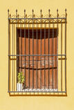 Old wrought iron grill window Royalty Free Stock Photography