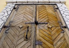 Old forged wooden door royalty free stock photos