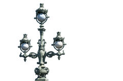 Old wrought painted street lamp in Saint Petersburg Royalty Free Stock Photo