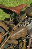 Old WW2 Motorcycle. The seat of an old World War II motorcycle Royalty Free Stock Photo