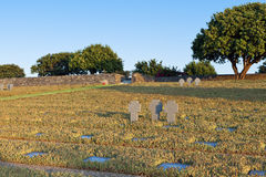 Old WWII cemetery at Crete island. Old WWII German military cemetery at Maleme of Crete island in Greece Stock Image