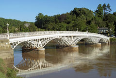 Old Wye Bridge at Chepstow Royalty Free Stock Photography