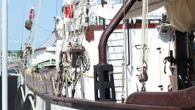 Old Yacht Deck stock video footage