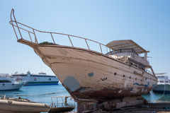 Old Yacht in dock Royalty Free Stock Image