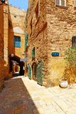 Old Yafo. Side street in old Yafo, Tel Aviv, Israel Royalty Free Stock Photography