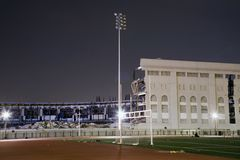Old Yankee Stadium. Bronx, NY - April 17: Remains of old Yankee Stadium just as it was being torn down for the new stadium.  Photographed April 17, 2010 in the Royalty Free Stock Photo