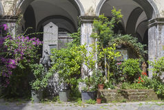 Old yard in Naples, Italy Royalty Free Stock Photo