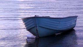 Old yawl boat floating Royalty Free Stock Photo