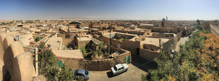 Old yazd street from roof Stock Photography