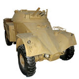 Old yellow armored car Stock Photography
