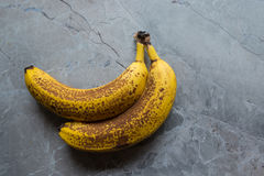 Old Yellow Banana. Old Rotten Yellow Banana With a Brown Spots Stock Image