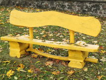 Old yellow bench Royalty Free Stock Photos