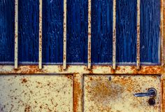 Rusty door full frame royalty free stock photos