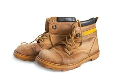 Old yellow boots Royalty Free Stock Image