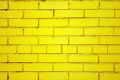 Old yellow brick wall Royalty Free Stock Images