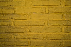 Old yellow brick wall Stock Photo