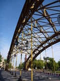 Old yellow bridge in Wroclaw. An old yellow bridge in Wroclaw in Poland Royalty Free Stock Photography