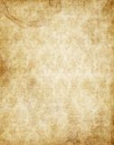 Old yellow brown vintage parchment paper texture Royalty Free Stock Image