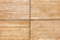 Old Yellow brown wood for background texture - 4 style Royalty Free Stock Photo