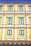 Old yellow building. As landmark in Bangkok, Thailand stock photography