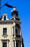 Old  yellow building in Zagreb, Croatia. Royalty Free Stock Image