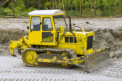 Old yellow bulldozer Royalty Free Stock Photography