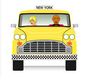 Old yellow cab vector Royalty Free Stock Photography