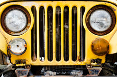 Old yellow Car Royalty Free Stock Images