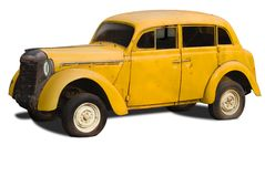 Old yellow car Stock Photo