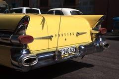 Old yellow car in Cuba Stock Image