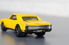 Old yellow car. Royalty Free Stock Images