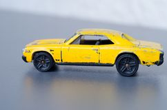 Old yellow car Royalty Free Stock Photos