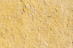Old yellow cement wall Stock Image