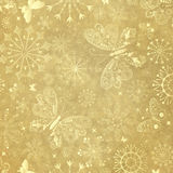 Old yellow christmas paper Royalty Free Stock Image